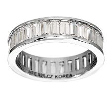 Epiphany Diamonique Channel Set Baguette Band Ring