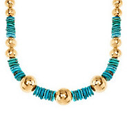 Veronese 18K Clad 18 Gemstone & Nugget Necklace - J277677