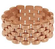 Bronze 8 Satin Finish Panther Link Bracelet by Bronzo Italia - J285177