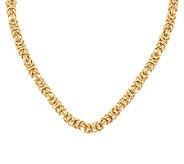 Arte d Oro 18 Bold Woven Byzantine Necklace 18K Gold, 41.5g - J291177