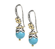Barbara Bixby Sterling & 18K Turquoise Bead Dangle Earrings - J292477