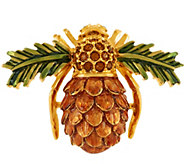 Joan Rivers Pinecone Bee Pin - J292977