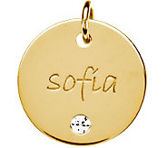Posh Mommy 18K Gold-Plated Medium Disc w/SimBirthstone Pendan - J300077