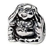 Prerogatives Sterling Hear No Evil Buddha Bead - J300677