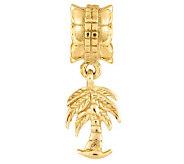Prerogatives 14K Yellow Gold-Plated Sterling Palm Tree Bead - J302877
