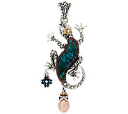 Barbara Bixby Sterling & Multi-Gemstone Gecko Enhancer - J317777