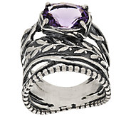 Sterling Silver 2.00ct Brazilian Amethyst Ring by Or Paz - J318177