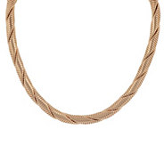 As Is Bronzo Italia 18 Double Twisted Round Tubogas Necklace - J320177