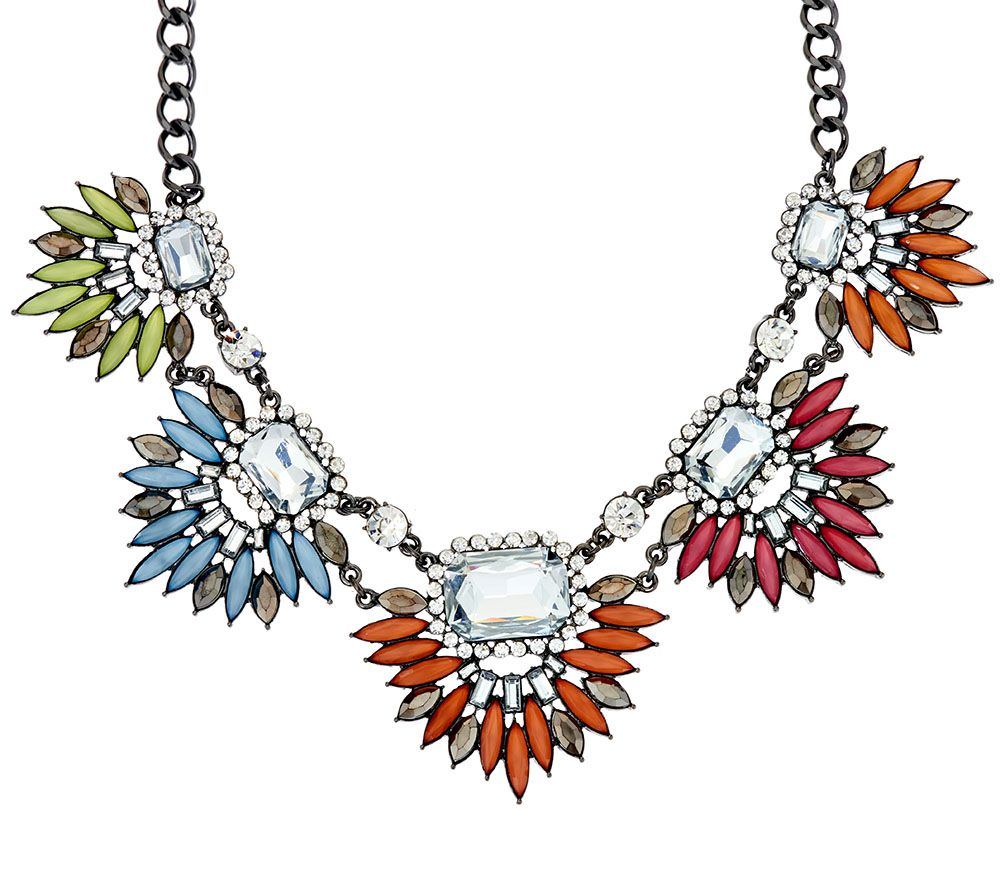 "LOGO Links by Lori Goldstein 18"" Spikey Burst Necklace"