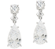 The Elizabeth Taylor Round & Pear Drop Earrings - J323577