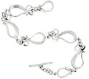 Hagit Sterling Silver Ribbon Bracelet - J327277