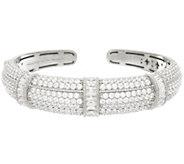 Judith Ripka Sterling 9.30 cttw Diamonique Cuff Bracelet - J327377
