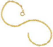 As Is_Vicenza Gold 7-1/4 Twisted Singapore Bracelet, 14K - J328577