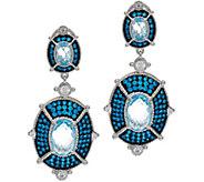 Judith Ripka Sky Blue Topaz & Diamonique Drop Earrings - J329077