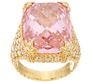 Judith Ripka Sterling / 14K Clad Pink Diamonique Monaco Ring - J330477