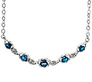 Carolyn Pollack Sterling Silver 9.50 cttw Blue Topaz Adj. Necklace - J330777