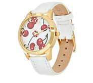 C. Wonder Round Fruit Dial Leather Strap Watch - J333077