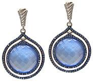 Judith Ripka Sterling Blue Doublet & DiamoniqueEarrings - J337477