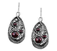 Sterling Triple Garnet Teardrop Dangle Earringsby Or Paz - J339477