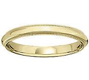14K Gold 3mm Milgrain Comfort Fit Wedding BandRing - J340277