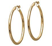 EternaGold 1-1/8 14K Gold Polished Tube Hoop Earrings - J340477