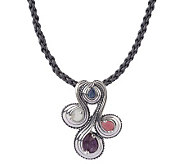 Carolyn Pollack Sterling Windsong Pendant w/ Cord - J341477