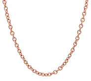 Stainless Steel 18 Cable Link Necklace - J342477