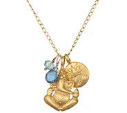 Satya Ganesha, Lotus, and Gemstone Necklace - J342877