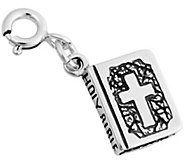 Sterling Two-Sided Bible Charm - J344177