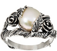 Sterling Silver Cultured Pearl Floral Ring by Or Paz - J346677