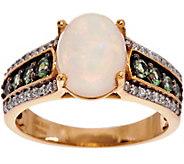 Ethiopian Opal & Alexandrite Ring, 14K Gold 0.35 cttw - J349277