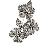 Joan Rivers Red Carpet Pave Floral Cluster Brooch - J349677