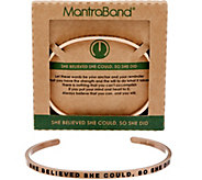 MantraBand Rosetone Inspirational Cuff Bracelet - J350577