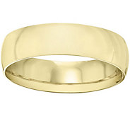Womens 18K Yellow Gold 6mm Half-Round WeddingBand - J375477