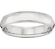 Womens 14K White Gold 5mm Milgrain Wedding Band - J375577