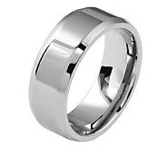 Titanium Beveled Edge 6mm Polished Ring - J109978
