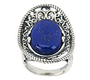 Carolyn Pollack Lapis Sterling Oval Ring - J273878