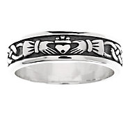 Solvar Sterling Silver Womans Claddagh Ring - J275978