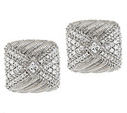Judith Ripka Sterling 1.20ct Diamonique Button Earrings - J277878