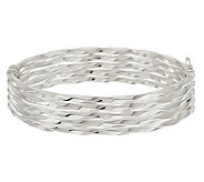 UltraFine Silver Large Multi-Row Twisted Design Bangle, 16.0g - J279678