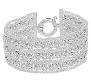 UltraFine Silver 7-1/4 Triple Row Woven Byzantine Bracelet - J289578