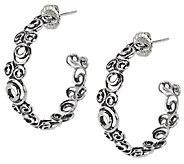 Carolyn Pollack Sterling Swirl Design 1 Hoop Earrings - J289878