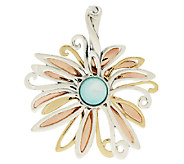 Carolyn Pollack Mother-of-Pearl Mixed Metal Flower Enhancer - J289978