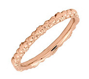 Simply Stacks Sterling 18K Rose Gold-Plated 2.25mm Cable Ring - J298878
