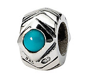 Prerogatives Sterling Turquoise Cubic ZirconiaGeometric Bead - J307378