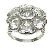Judith Ripka Sterling 5.00 ct tw Crystal QuartzFlower Ring - J307578