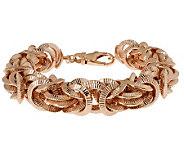 Bronzo Italia 7-1/4 Textured Byzantine Bracelet - J312878