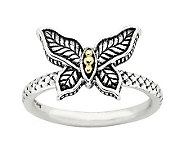 Simply Stacks Sterling Two-Tone Butterfly Ring - J313178
