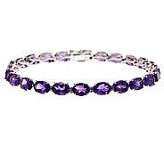Sterling Silver 16.00 ct tw Amethyst Tennis Bracelet - J314778