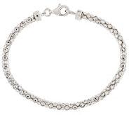 Silver Style Sterling Diamond Cut Bracelet - J317578
